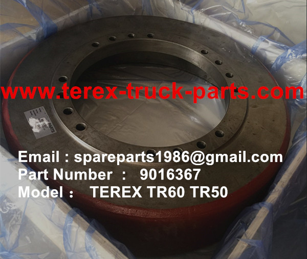 TEREX SANY RIGID DUMP TRUCK TR50 TR60 09016367 BRAKE DRUM REAR