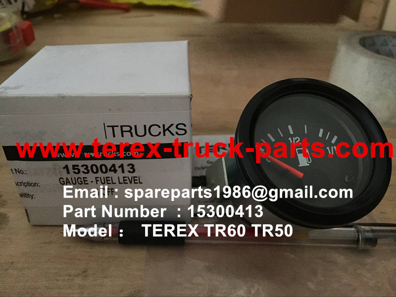 TEREX NHL TR60 RIGID DUMP TRUCK 15300413 GAUGE FUEL LEVEL