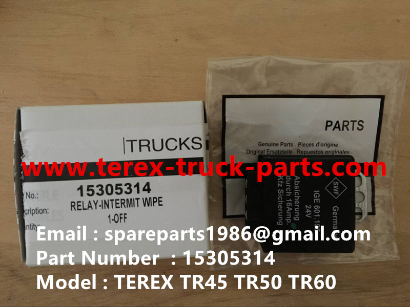 TEREX NHL TR60 RIGID DUMP TRUCK 15305314 RELAY INTERMIT WIPE