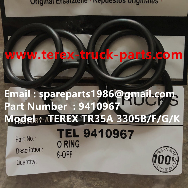 TEREX NHL RIGID DUMP TRUCK TR50 TR60 09410967 O RING