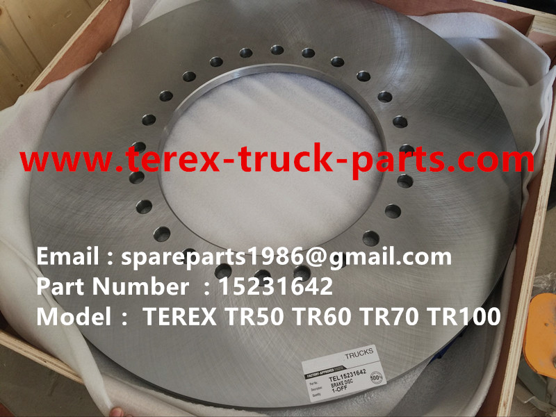 TEREX NHL TR50 TR60 RIGID DUMP TRUCK 15231642 BRAKE DISC TR100 ALLISION TRANSMISSION