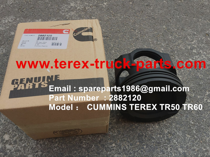 TEREX NHL TR50 TR60 RIGID DUMP TRUCK CUMMINS ENGINE 2882120 KIT ENGINE PISTON