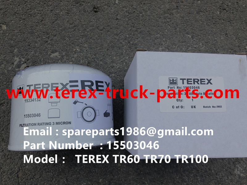 TEREX NHL TR50 TR60 RIGID DUMP TRUCK CUMMINS ENGINE 15503046 BREATHER