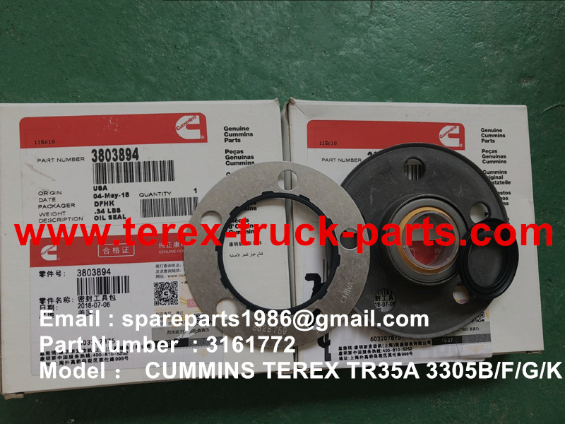 TEREX NHL MINING OFF HIGHWAY RIGID DUMP TRUCK CUMMINS ENGINE TR35A 3305F 3305B 3305G 3305K OFF HIGHWAY TRUCK 3161772 OIL SEAL