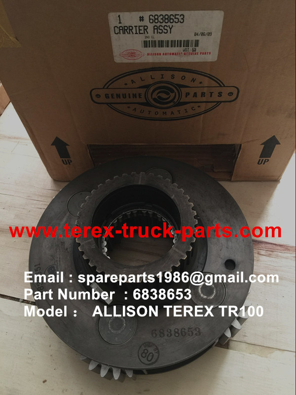 TEREX OFF HIGHWAY MINING RIGID DUMP TRUCK HAULER NHL HAULER NHL UNIT RIG TR60 TR70 TR100 ALLISON TRANSMISSION 6838653 CARRIER ASSY
