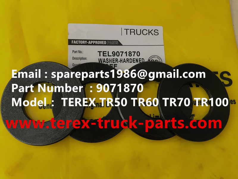 TEREX RIGID DUMP TRUCK HAULER OFF HIGHWAY TRUCK HAULER TR60 TR70 TR100 WASHER 09071870