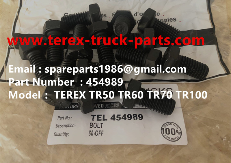 TEREX RIGID DUMP TRUCK HAULER OFF HIGHWAY TRUCK HAULER ALLISON TRANSMISSION TR50 TR60 TR70 TR100 BOLT 00454989