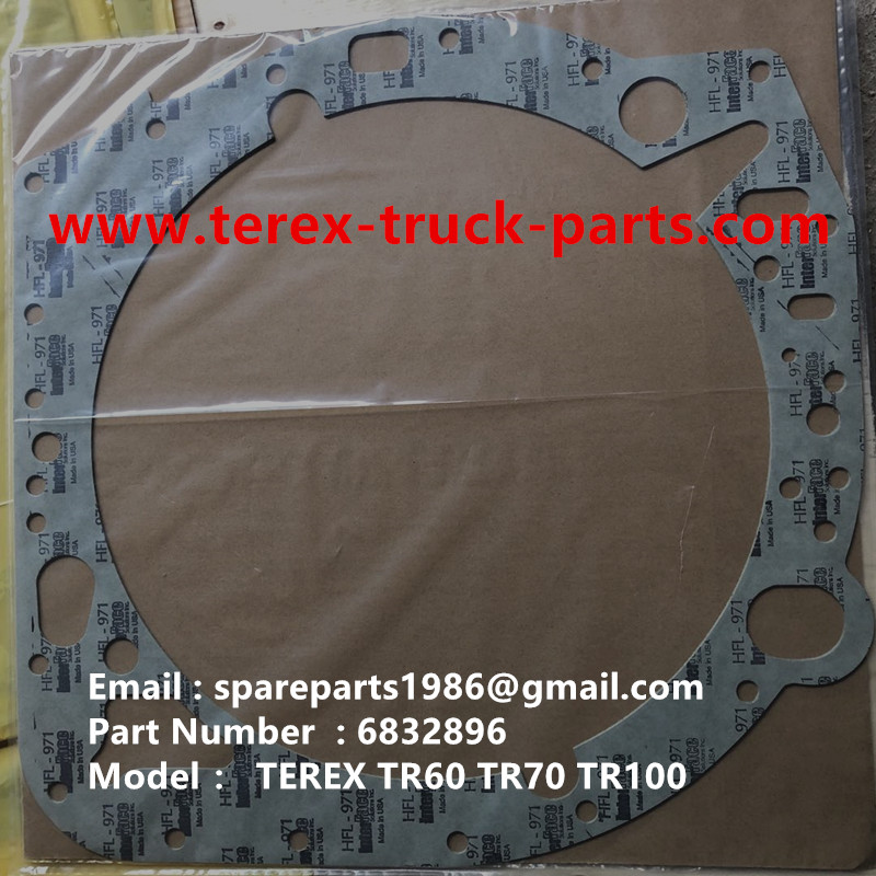 TEREX RIGID DUMP TRUCK HAULER OFF HIGHWAY TRUCK HAULER ALLISON TRANSMISSION GE WHEEL MOTOR TR60 TR70 TR100 ALLISON TRANSMISSION 6832896 GASKET