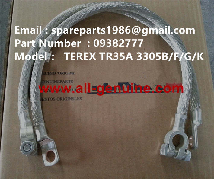 TEREX 3305F Battery negative cable 09382777