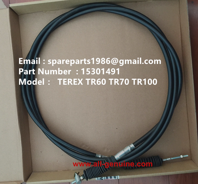 TEREX TR100 MINING DUMP TRUCK 15301491 ACCELERATOR CABLE