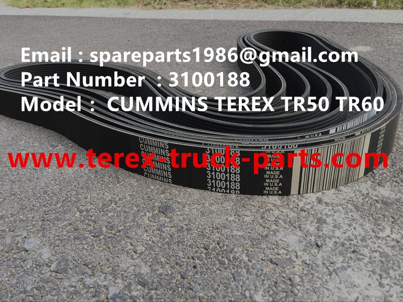 TEREX NHL DUMP TRUCK TR50 3100188 FAN BELT