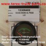 TEREX NHL TR50 TR60 RIGID DUMP TRUCK 15308402 GAUGE ENGINE OIL PRESSURE