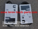 TEREX OFF HIGHWAY MINING RIGID DUMP TRUCK HAULER NHL TR35A 3305B 3305F 3305G 3305K CUMMINS ENGINE 3028521 V BELT