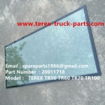 TEREX SANY TR35A 3305F 3305G RIGID DUMP TRUCK 20011718 WIND SHIELD GLASS